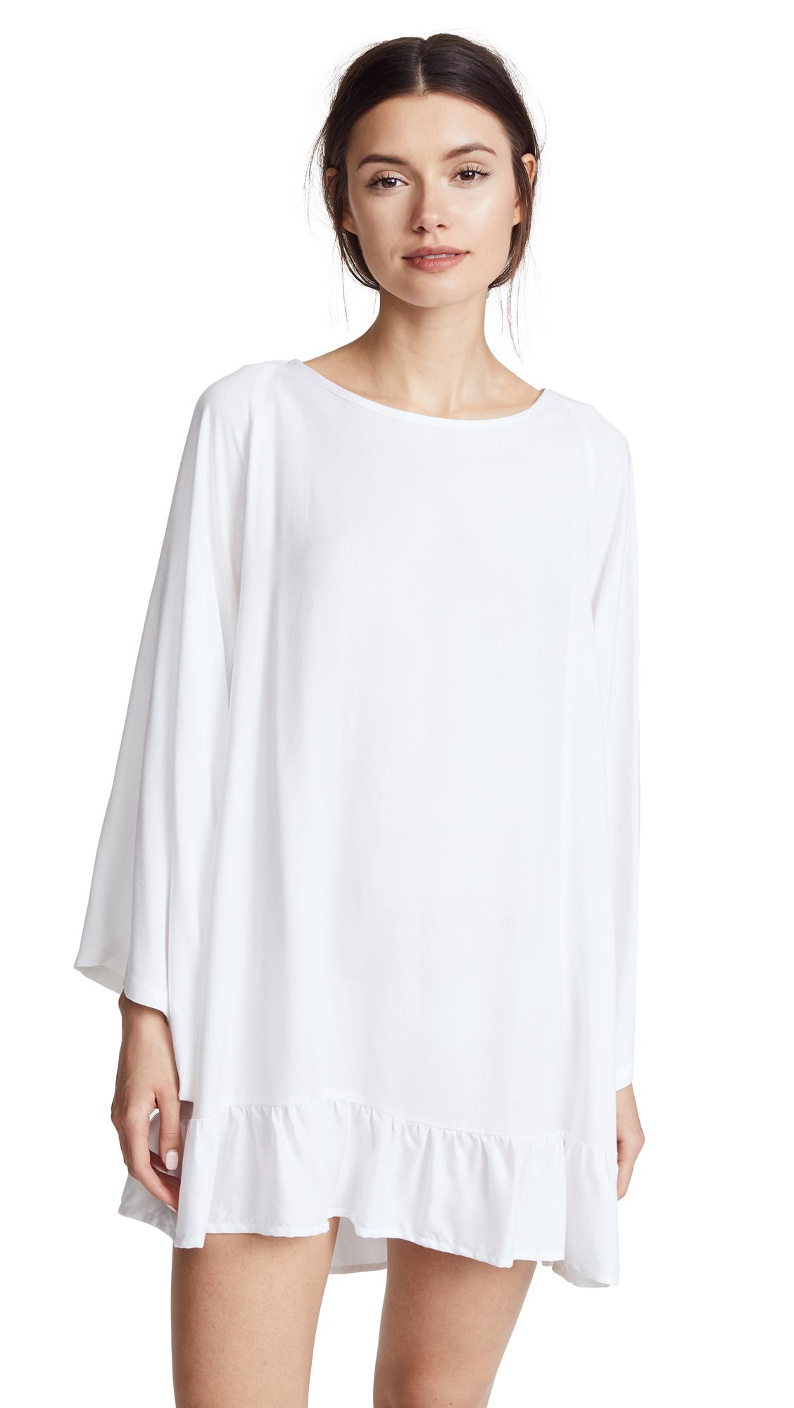 SUNDRESS Fiorella Dress - White/Neon Coral & Pink