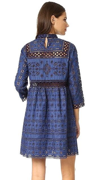 Sea Eyelet & Lace Popover Dress