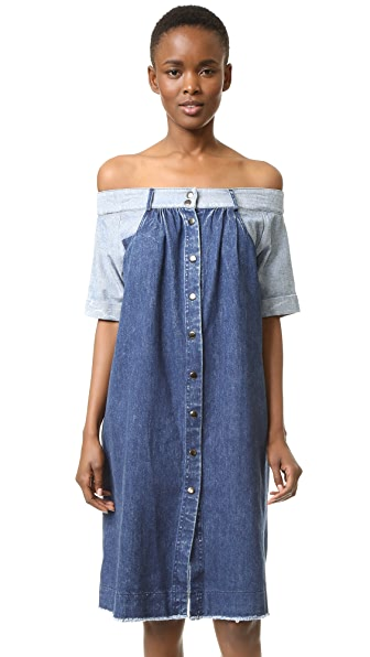 Sea Denim Off Shoulder Dress