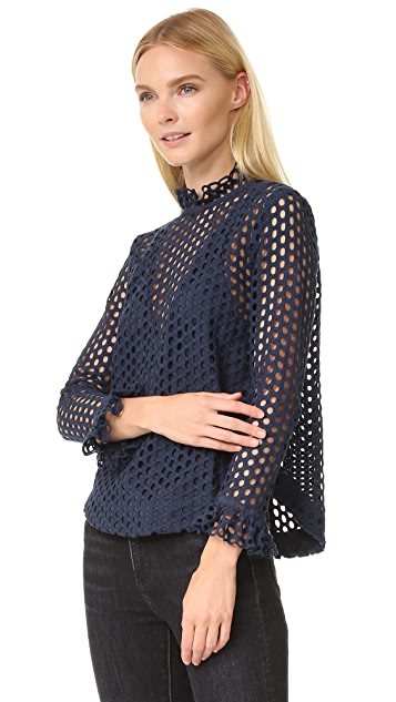 Sea Hole Punch Lace Top