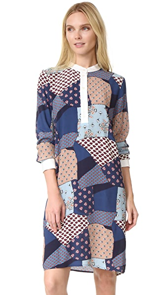 Sea Patchwork Shirtdress - Multi