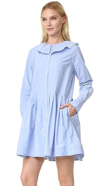 Sea Collar Button Down Dress