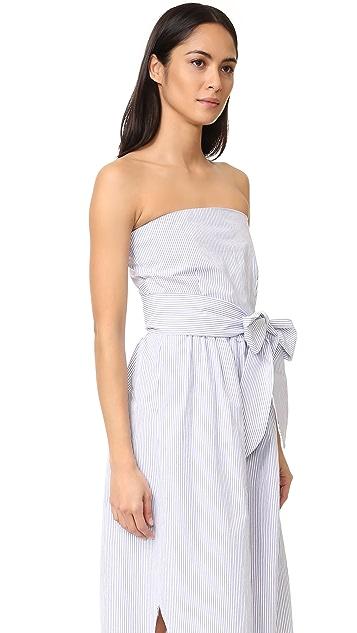 Sea Belted Sleeveless Dress