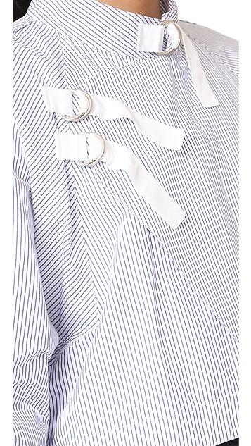 Sea Striped Moto Jacket