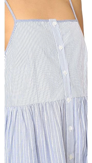 Sea Tiered Striped Dress