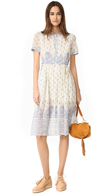 Sea Jane Border Print Dress