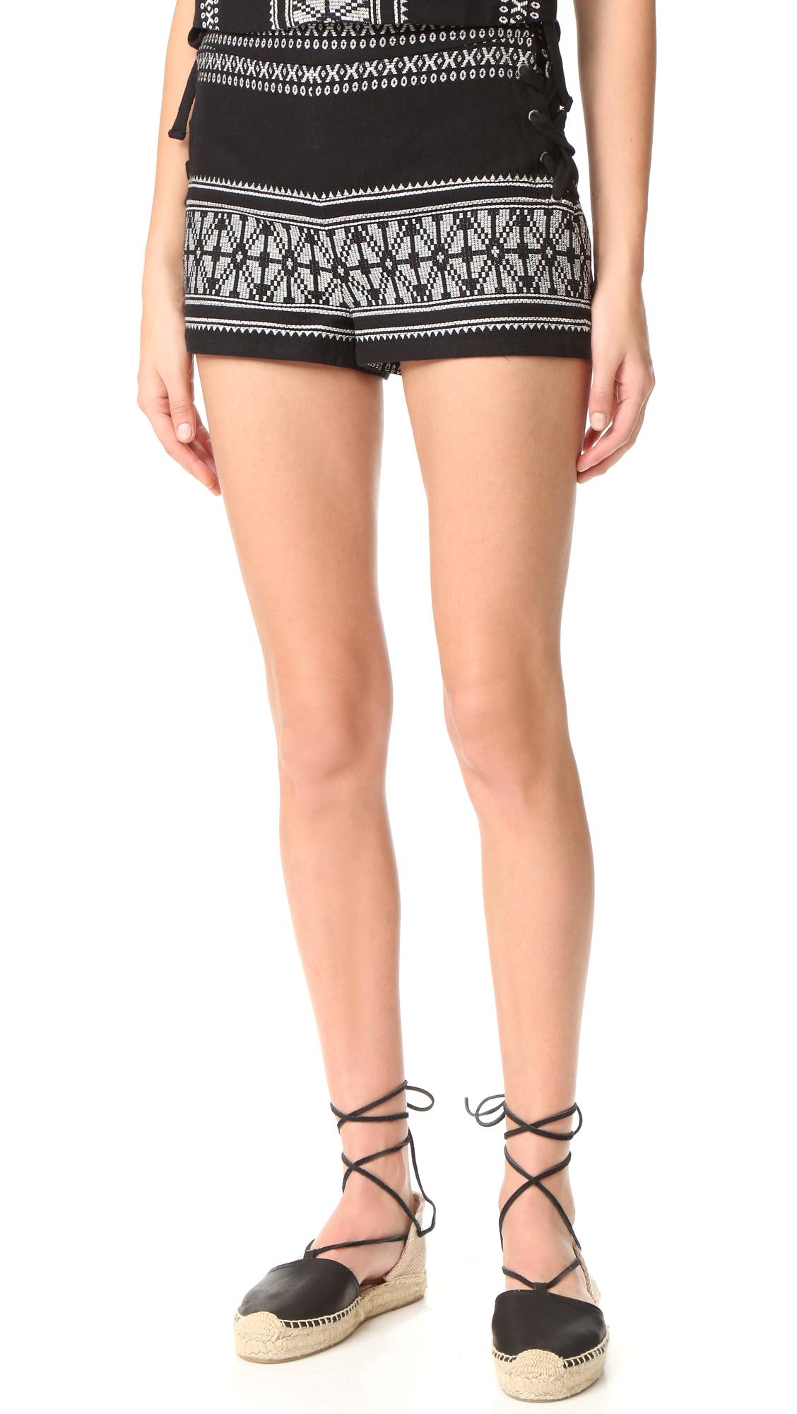 sea female sea laced shorts black