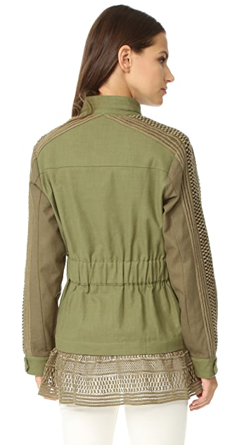 Sea Baja Lace Military Jacket