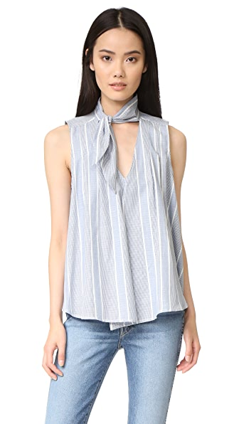Sea Paolo Scarf Tank - Blue/White Stripe