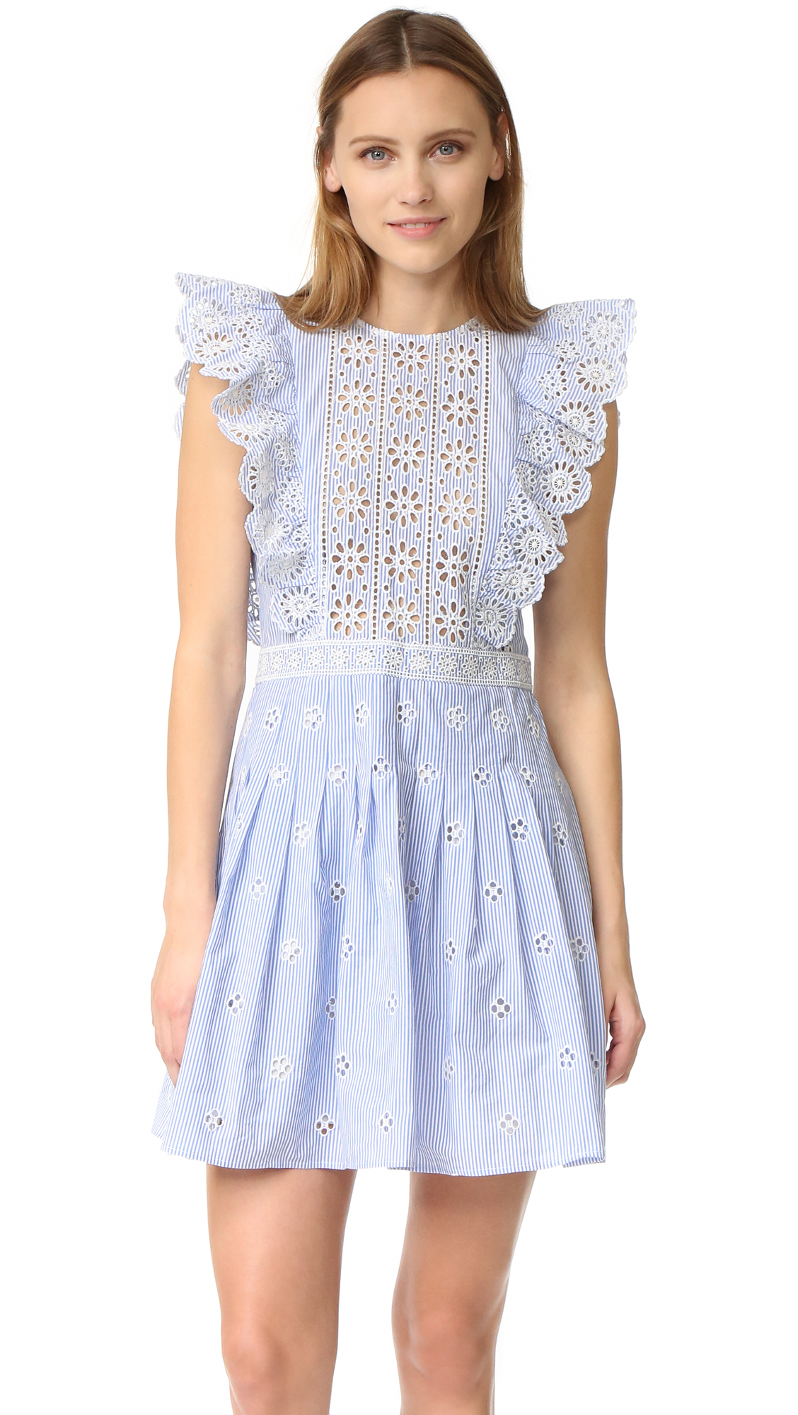 How to accessorize a white eyelet dress