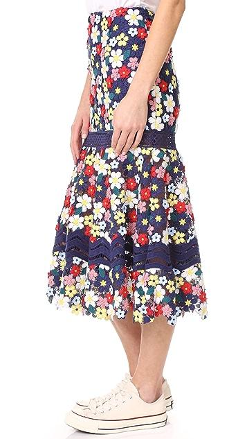Sea 3D Lace Skirt