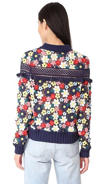 Sea 3D Lace Sweatshirt