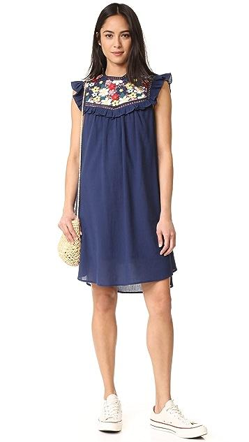 Sea 3D Lace Sleevelesss Tunic Dress