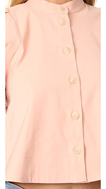 Sea Puffed Sleeve Shirt