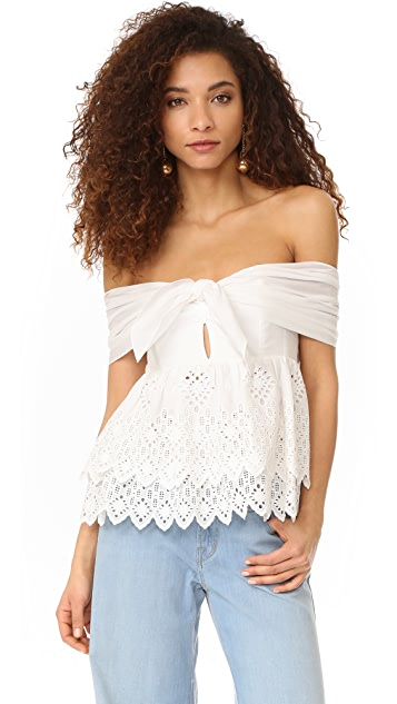 Sea Strapless Belle Top