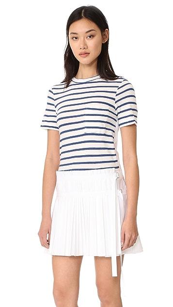Sea T-Shirt Pleated Combo Dress