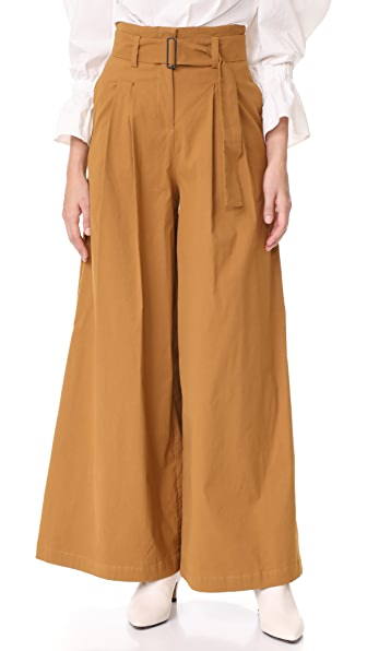 Sea High Waisted Pants In Camel