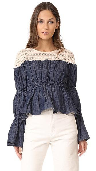 Sea Louise Victorian Sleeve Blouse