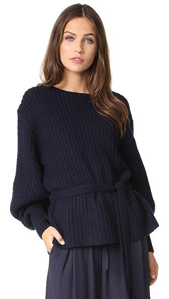 Sea Voluminous Sleeve Sweater In Navy