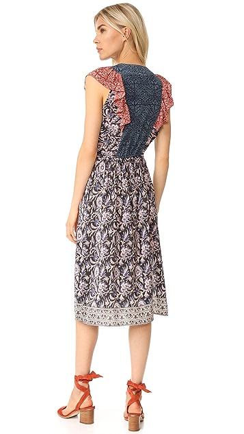Sea Flutter Midi Dress