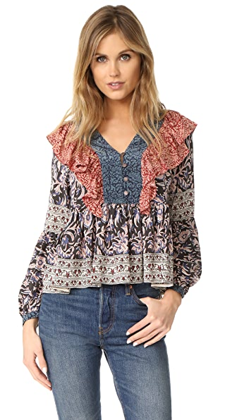 Sea Flutter Blouse In Multi/Mix Print