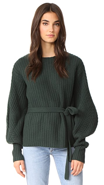 Sea Classic Sweater with Voluminous Sleeves