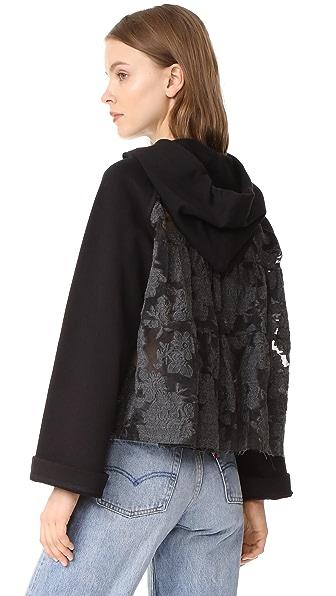 Sea Bell Sleeve Combo Sweatshirt - Black