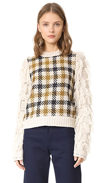 Sea Fringe Sleeve Sweater