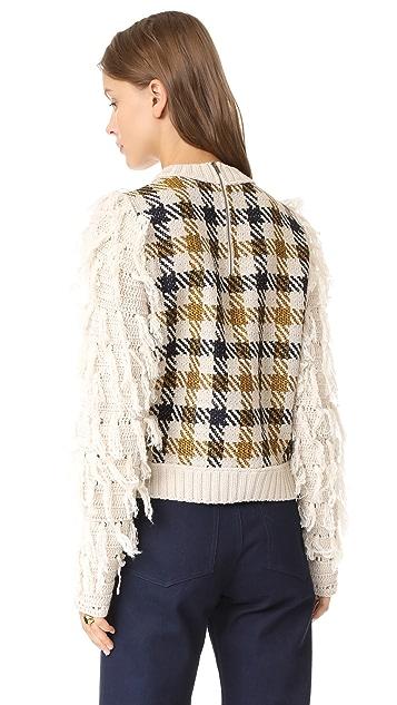 Sea Fringe Sleeve Sweater