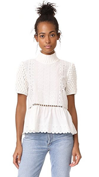 Sea Short Sleeve Sweater Top