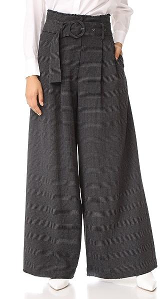 Sea High Waist Slouchy Pants - Dark Grey