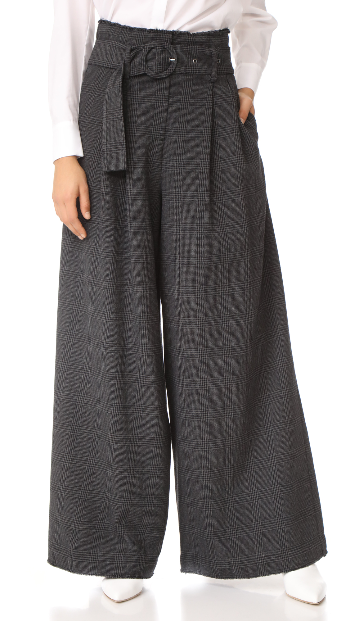 Sea High Waist Slouchy Pants - Dark Grey