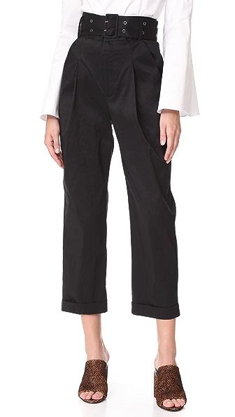 Sea Ripley Windbreaker Slack Pants In Black