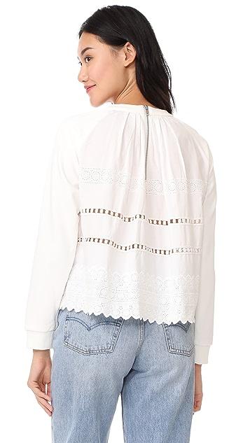 Sea Ruffle Wrap Sweatshirt