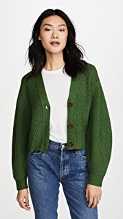 Sea Cropped Bell Sleeve Sweater