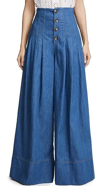 Sea High Waist Corset Pants