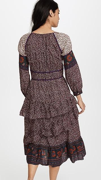 Sea Long Sleeve Corset Dress