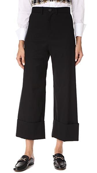 Sea Cuffed Pants - Black