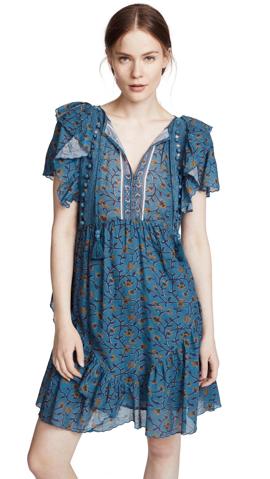 Sea Kaylee Printed Dress In Steel Blue