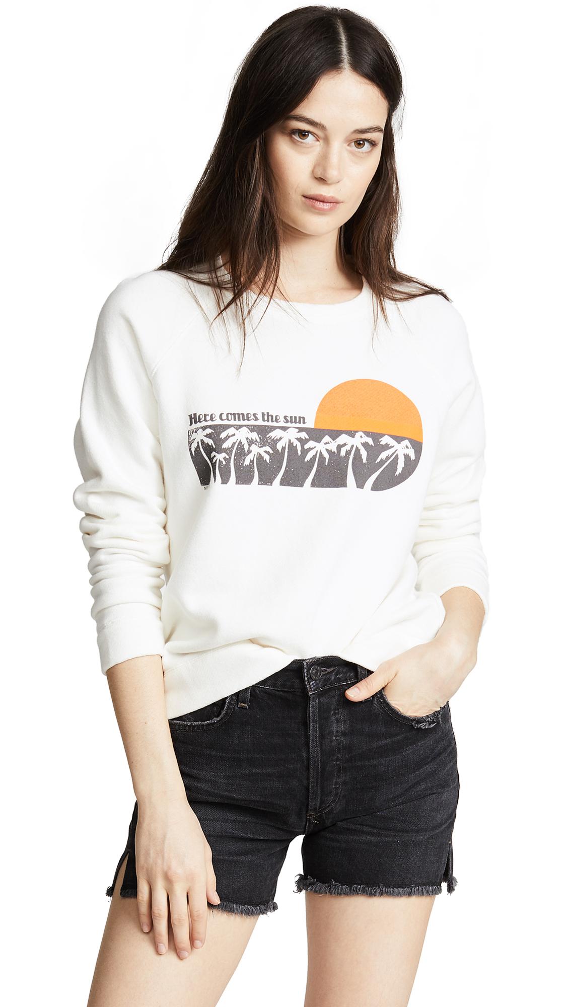 Sea Here Comes The Sun Sweatshirt In White