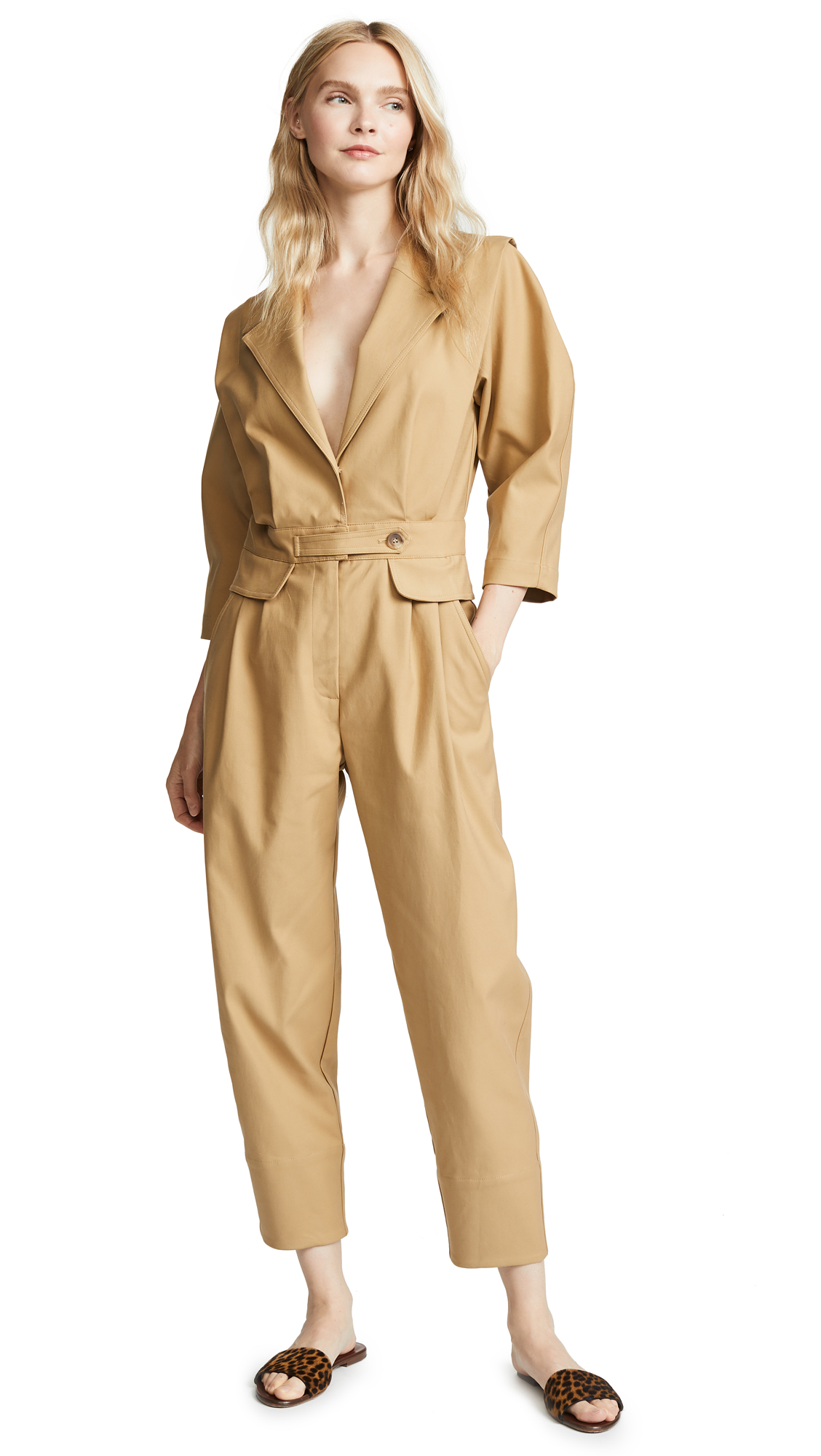 Sea Kamille Jumpsuit In Khaki