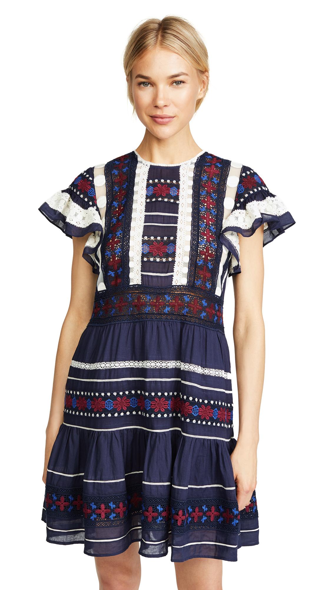 Sea Ila Lace Dress In Blue/Multi