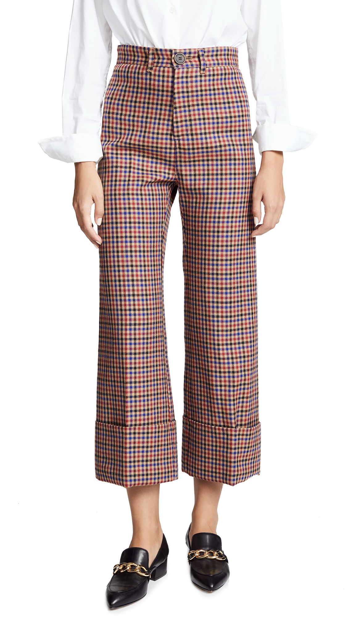 Sea Cuffed Pants In Blue/Red Check
