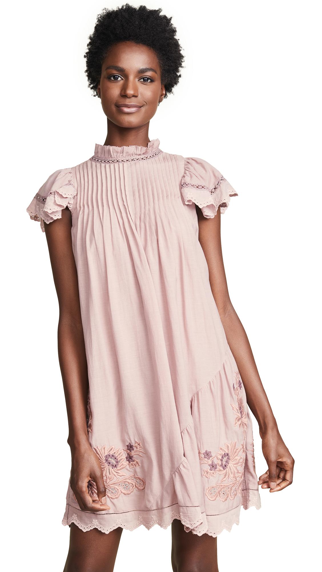 Sea Greta Sleeveless Pintuck Tunic Dress In Blush