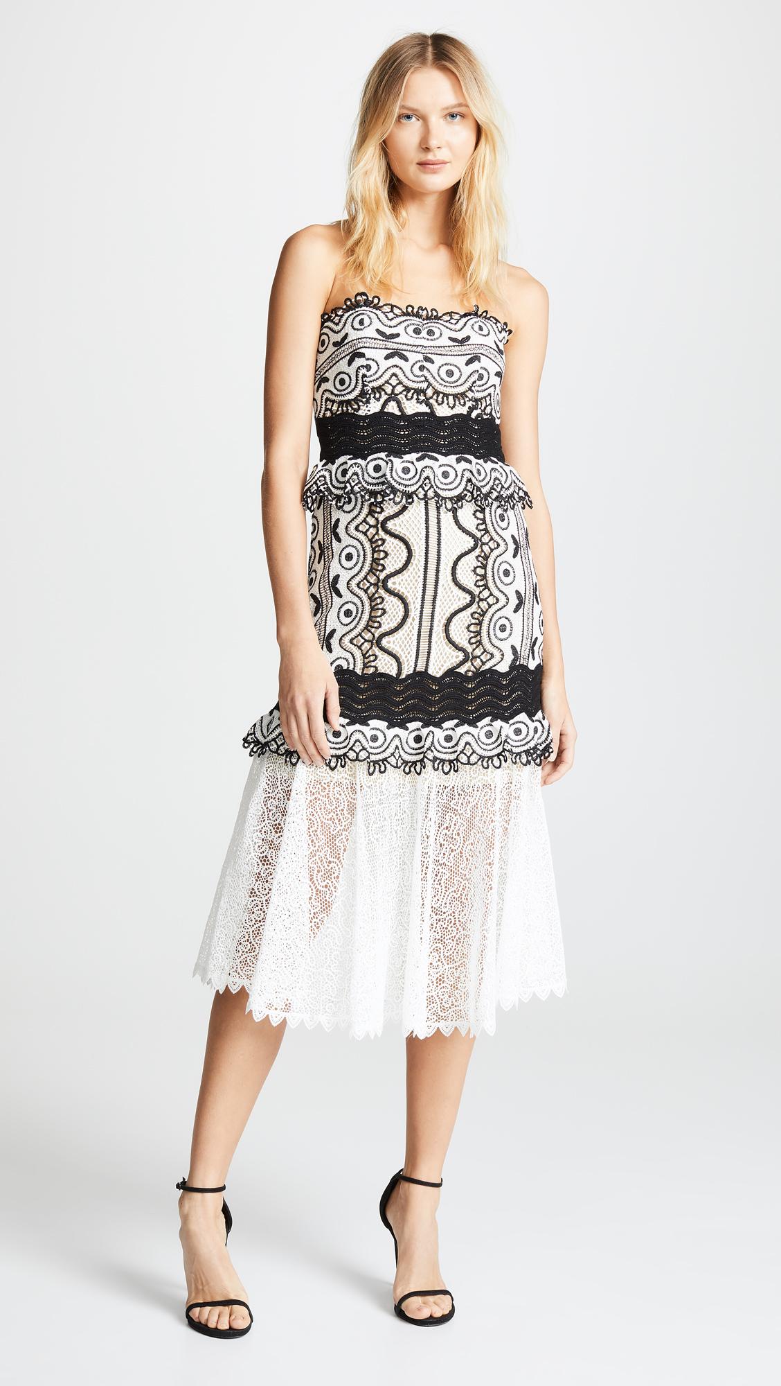 Sea Lola Lace Strapless Midi Dress Shopbop