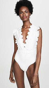 6db6ca18b21 Sea. Sofia Flutter Sleeve One Piece Swimsuit