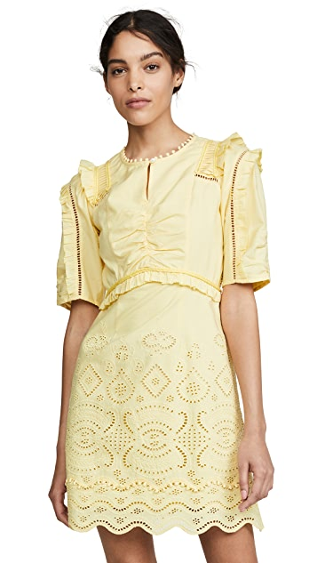 Photo of  Sea Naomie Puff Sleeve Mini Dress - shop Sea dresses online sales