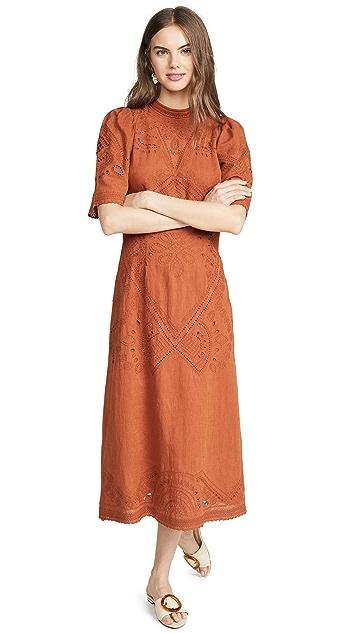 Sea Agatha Short Sleeve Midi Dress