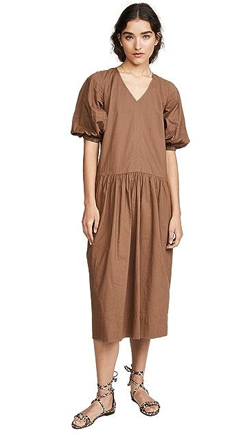 Sea Rumi Short Sleeve Relaxed Midi Dress