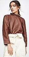 Sea Lidia Leather Top